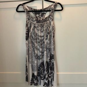 Dresses & Skirts - Rhinestone black and white mini dress sparkle